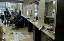 理发店装修工地照片-成都工装公司办公室|酒店|商场|会所装饰设计工程