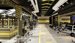 成都健身房工装案例设计与工地-成都工装网咖|健身房|茶楼|店面装修设计工程