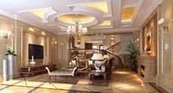 别墅装饰效果图设计蔚蓝卡地亚案例