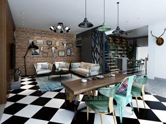 南门业主现代风格家装设计作品