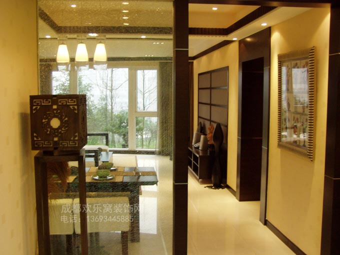 新中式风格室内装修设计案例-成都装修网