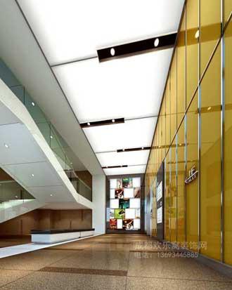 成都金堂装修商业门厅案例-金艺廊公司