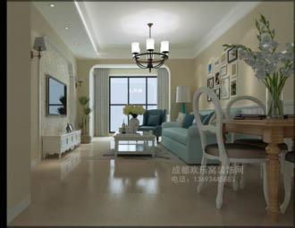 客厅装饰设计作品-华阳设计师邓超作