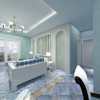 客厅地中海风格室内设计图片