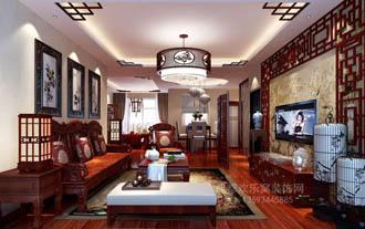 中式风格客厅效果图-室内设计师王强作
