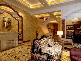 别墅客厅装修案例图片参考01