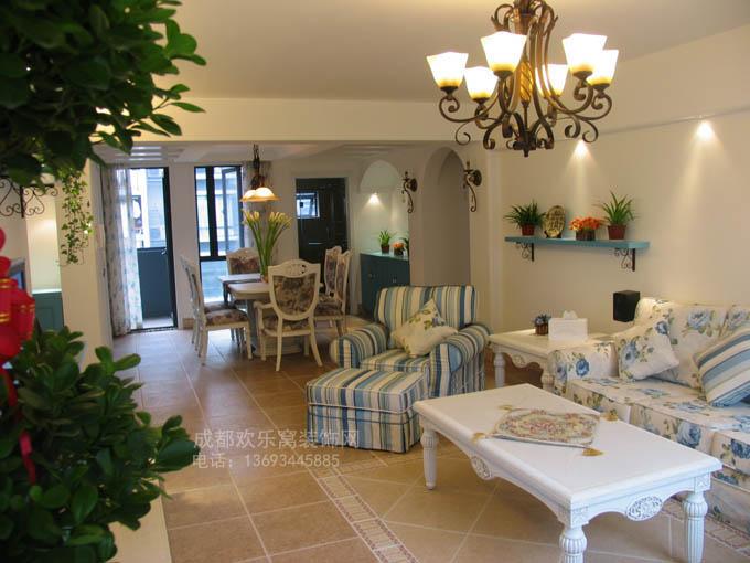 地中海风格装修案例作品-成都家装公司设计