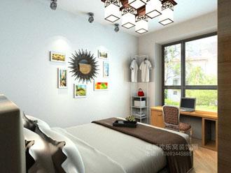 次卧混搭风格室内装饰设计案例