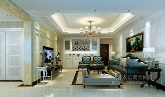 龙泉客户客厅设计效果图-王强