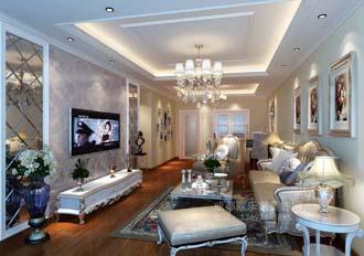 客厅装饰设计效果图-武侯区室内设计师王强