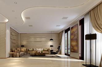 成都某业主客厅室内装修设计案例