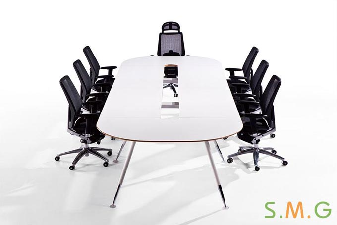 格律圆角钢木会议桌定制-成都装修网