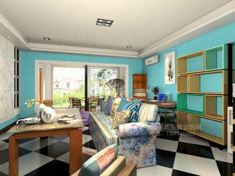 客厅混搭风格设计案例图片