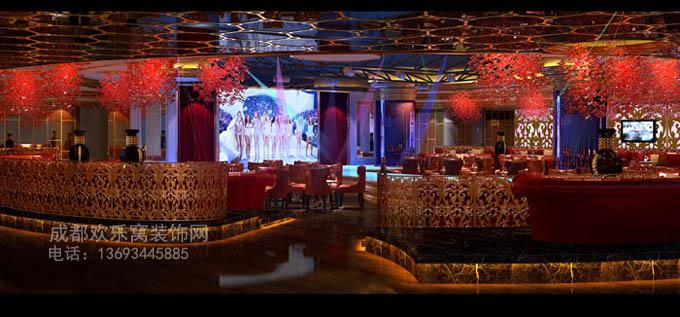 成都劲宇装修公司娱乐场所大厅装饰设计装修方案图片